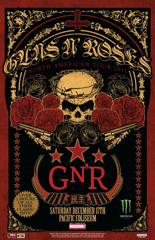 Guns 'n' Roses - North American Tour 2011 - Pacific Coliseum - A4 Music Mini Print