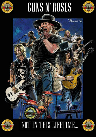 Guns 'n' Roses - Not in This Lifetime - A4 Music Mini Print