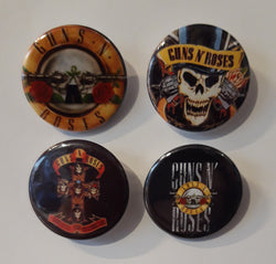Guns 'n' Roses - Set of 4 Badges