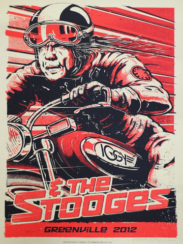 Iggy and the Stooges - Greenville 2012 - A4 Music Mini Print