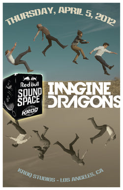 Imagine Dragons - Los Angeles 2012 - A4 Mini Print