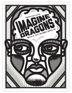 Imagine Dragons - Seattle 2013 - A4 Mini Print
