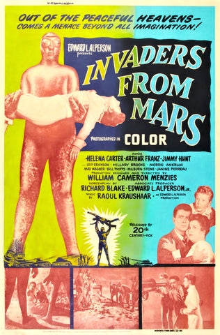 Invaders from Mars - 50s B-Movie Classic - A4 Vintage  Print B