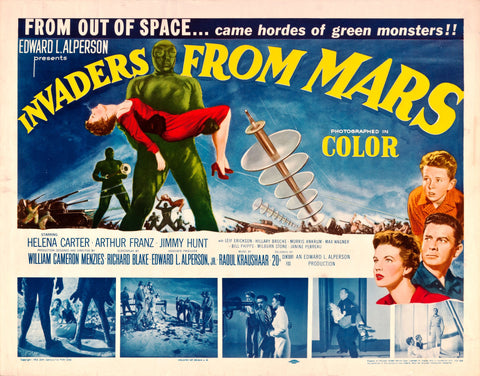 Invaders from Mars - 50s B-Movie Classic - A4 Vintage  Print C