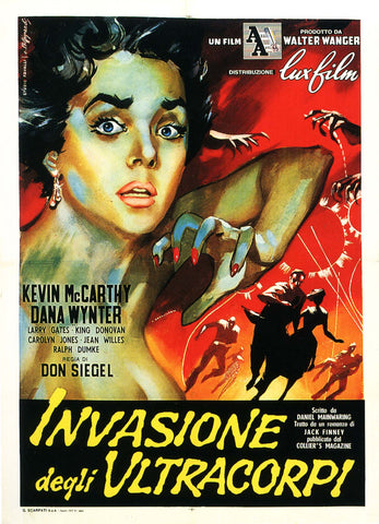 Invasion of the Body Snatchers - 50s B-Movie Classic - A4 Vintage Italian Print