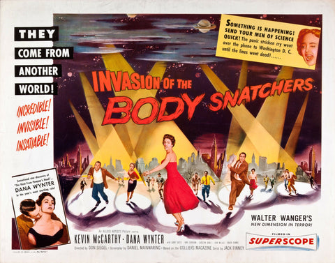 Invasion of the Body Snatchers - 50s B-Movie Classic - A4 Vintage Print B