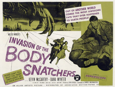Invasion of the Body Snatchers - 50s B-Movie Classic - A4 Vintage Print D