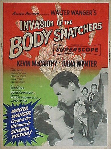 Invasion of the Body Snatchers - 50s B-Movie Classic - A4 Vintage Print E