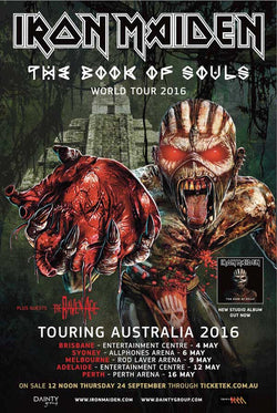 Iron Maiden - Australian Tour 2016 - A4 Mini Print