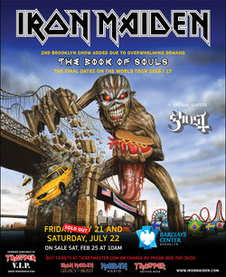 Iron Maiden - Book of Souls - Brooklyn - A4 Mini Print