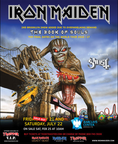 Iron Maiden - Book of Souls - Brooklyn - A4 Music Mini Print