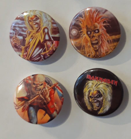 Iron Maiden - Set of 4 Badges