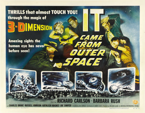 It Came from Outer Space - 50s B-Movie Classic - A4 Vintage Print B