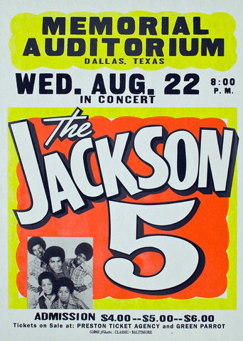 Jackson 5 Memorial Auditorium - Texas - A4 Music Mini Print