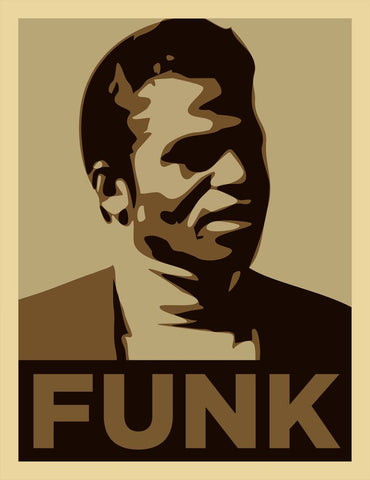 James Brown - Funk - A4 Music Mini Print