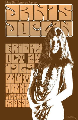 Janis Joplin - Kansas - A4 Music Mini Print