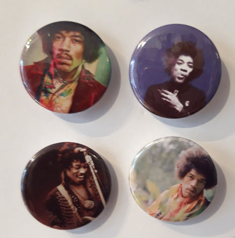 Jimi Hendrix - Set of 4 Badges
