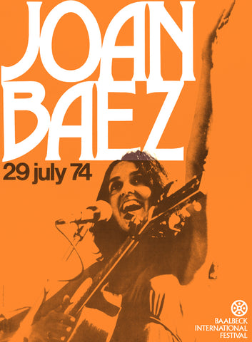 Joan Baez - 1974 - A4 Music Mini Print