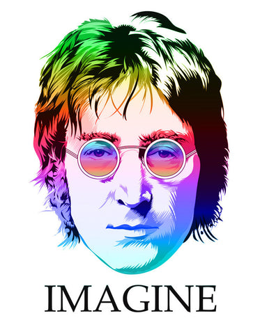 John Lennon - The Beatles - Imagine - A4 Music Mini Print