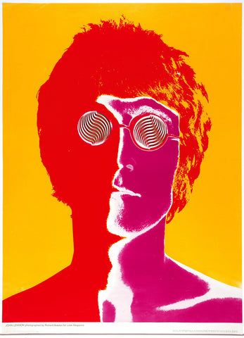 John Lennon - The Beatles - Psychedelic - A4 Music Mini Print