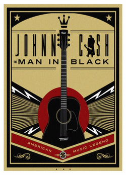 Johnny Cash - American Music Legend - A4 Music Mini Print