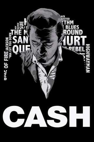 Johnny Cash - Cash - A4 Music Mini Print