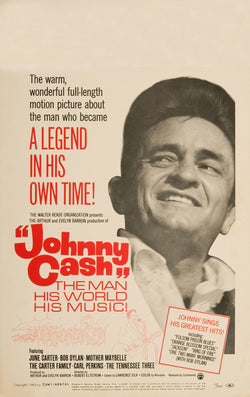 Johnny Cash - The Man, His World, His Music - A4 Music Mini Print