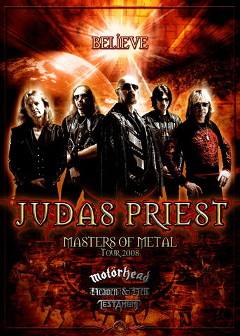 Judas Priest - Masters of Metal Tour 2008 - A4 Mini Print