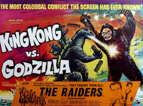 King Kong Vs Godzilla - 50s B-Movie Classic - A4 Japanese Vintage Print D