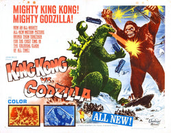 King Kong Vs Godzilla - 50s B-Movie Classic - A4 Vintage Print A