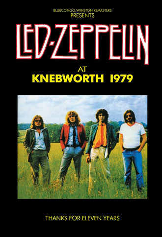 Led Zeppelin - Knebworth 1979 - A4 Mini Print