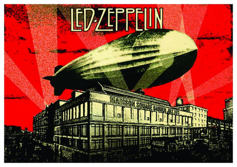 Led Zeppelin - Madison Square Garden 1973 - A4 Music Mini Print