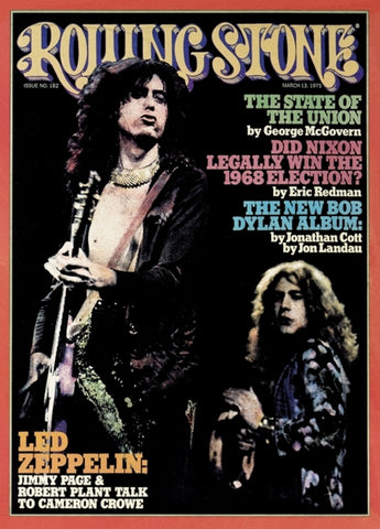 Led Zeppelin - Rolling Stone Cover - March 1975 - A4 Music Mini Print