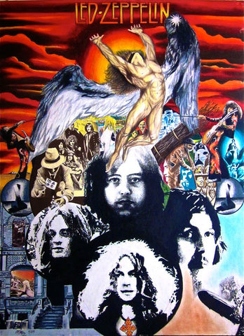 Led Zeppelin - Collage - A4 Music Mini Print C