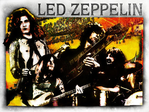 Led Zeppelin - Group - A4 Mini Print