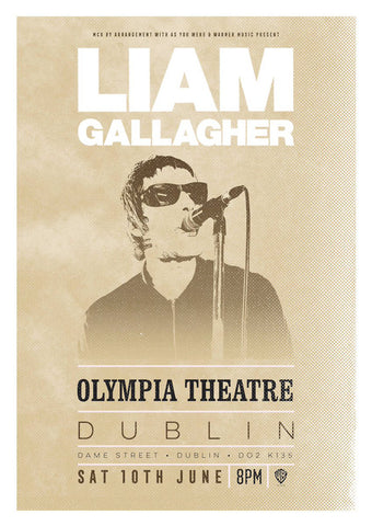 Liam Gallagher - Olympia Dublin 2017 - A4 Music Mini Print