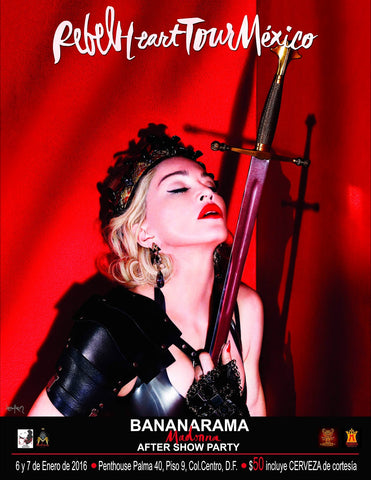 Madonna - Purple Heart Tour Mexico - After Show Party - A4 Music Mini Print
