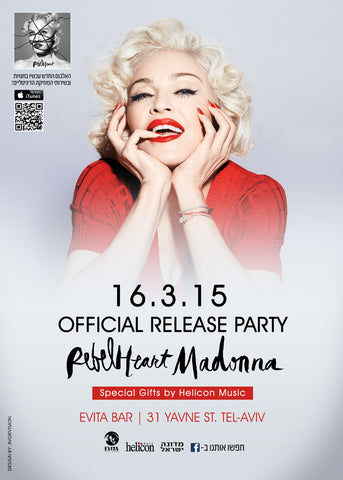 Madonna - Rebel Heart Official Release Party - Tel Aviv - Israel - A4 Music Mini Print