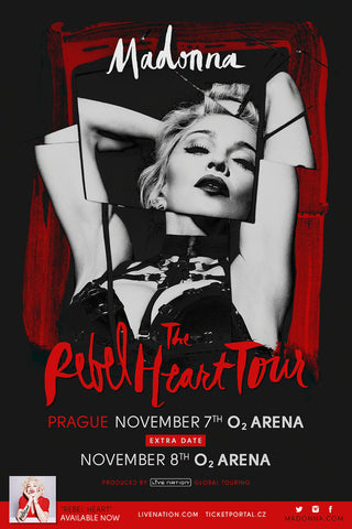 Madonna - Rebel Heart Tour - Prague - A4 Music Mini Print