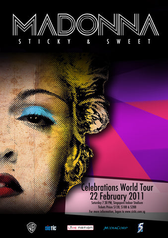 Madonna - Sticky & Sweet - Celebrations World Tour 2011 - A4 Music Mini Print