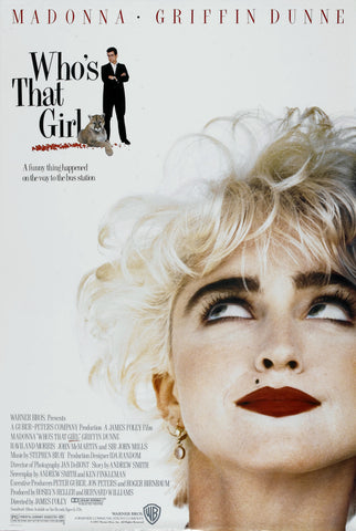 Madonna - Who's That Girl - A4 Music Mini Print