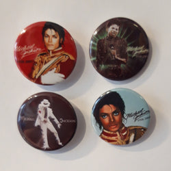 Michael Jackson - Set of 4 Badges