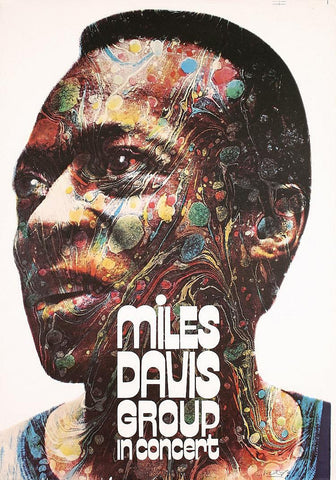 Miles Davis - Miles Davis Group - In Concert - A4 Music Mini Print