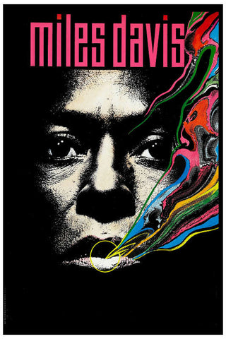 Miles Davis - Rainbow Smoke - A4 Music Mini Print