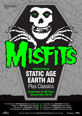 Misfits - Australia and NZ Tour 2015 - A4 Music Mini Print