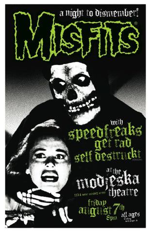 Misfits - Milwaukee 2009 - A4 Music Mini Print