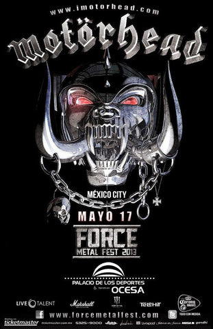 Motorhead - Mexico City 2013 - A4 Music Mini Print
