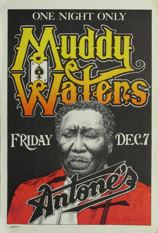 Muddy Waters - One Night Only at Antone's - A4 Music Mini Print