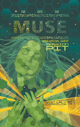 Muse - Minneapolis 2010 - A4 Mini Print