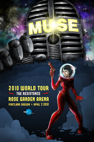 Muse - Portland 2010 - A4 Music Mini Print